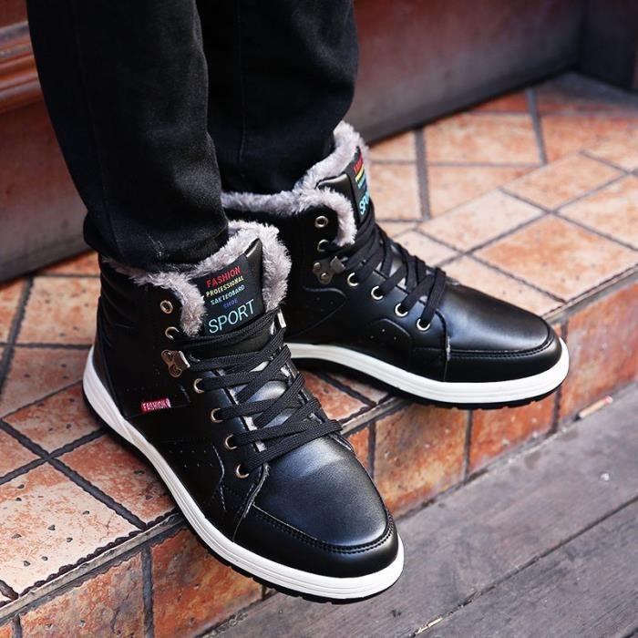 Bottes d'hiver Loisirs Bottes maintien Style coton Homme neige Fashion au Bottes plus le chaud de qfx1HEwd1