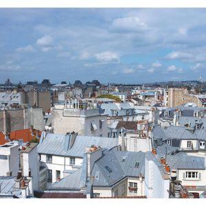 PLAGE Sticker Mur d'image - Vue de Paris360 x 240 cm