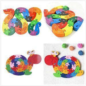 PUZZLE s0121 26 pièces en bois Toy serpent Jigsaw Puzzle