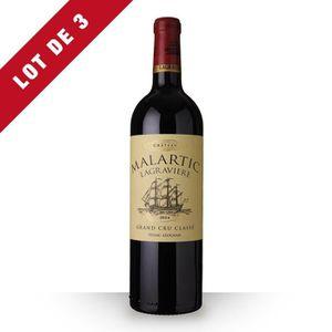 VIN ROUGE 3X Château Malartic-Lagravière 2014 Rouge 75cl AOC