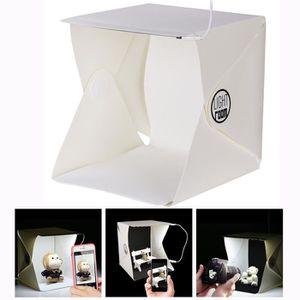 KIT STUDIO PHOTO Cisixin Mini Studio Photo avec lumière LED, Tente