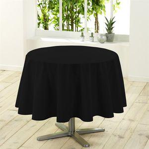 Nappe ronde unie diam tre 180 cm essentiel noir achat vente nappe de tabl - Table ronde 180 cm diametre ...