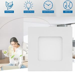 PLAFONNIER Spot LED carré 88mm extra plate 3W downlight LED -