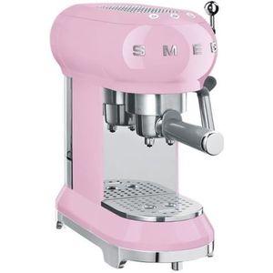 MACHINE À CAFÉ Smeg 50's Style ECF01PKEU Machine à café avec buse