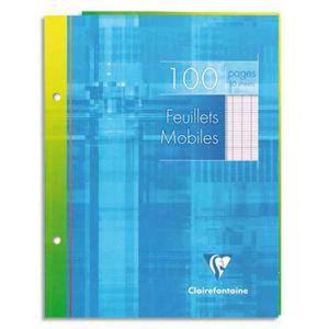 FEUILLET MOBILE Lot de 10 Feuillets mobiles, Format 17 x 22 cm, 10