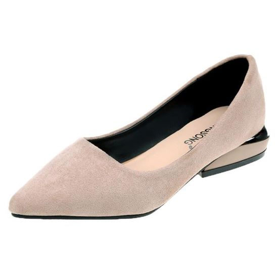 Femmes Fashion Pointed Toe Flat Ballet Shallow Shoes Slip On Casual Shoes  Beige_XZ*7618 Beige Beige - Achat / Vente slip-on