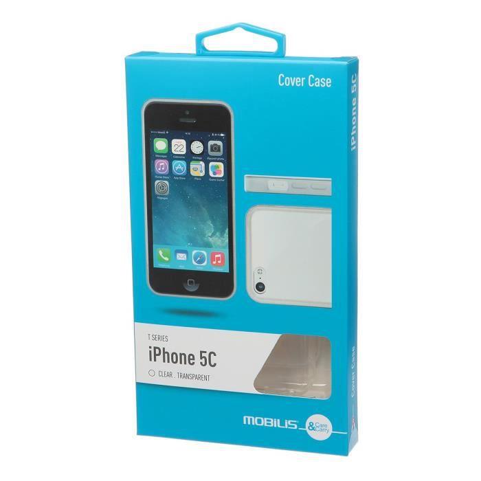 Mobilis Coque en silicone pour Iphone 5 - Noir T-Series