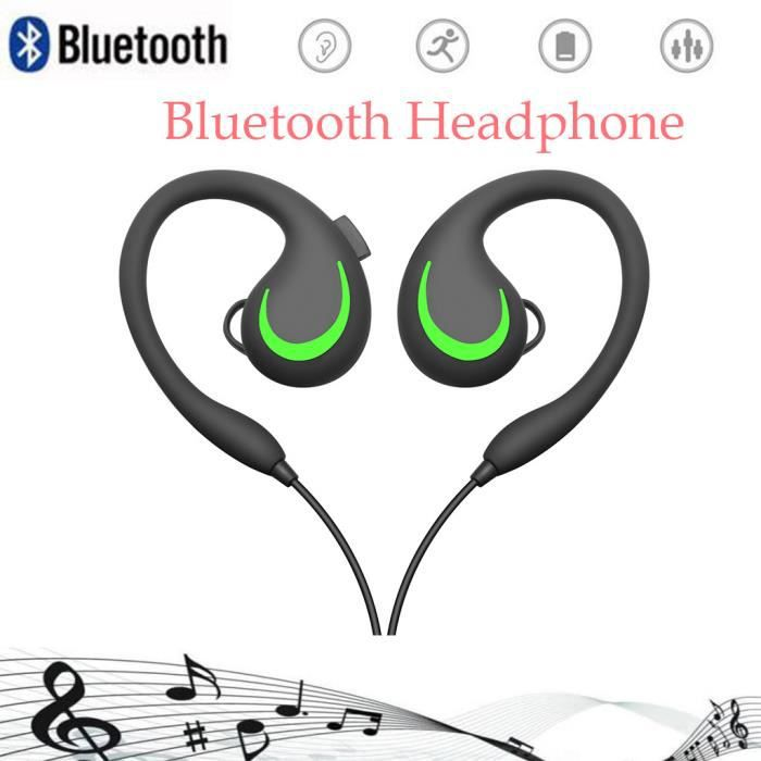 Haute Qualité Sport Casque Sans Fil Bluetooth Pour Téléphone Avec Micro Écouteurs @yunsoel4998