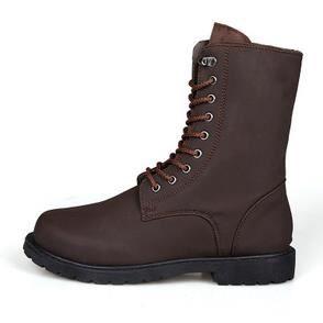 Bottes de l'automne à fond chaussures élevées version coréenne de chaussures pour les hommes britanniques, brun 40