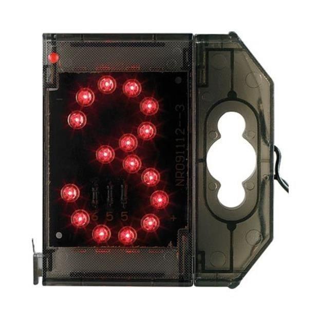 PLAQUE DE PORTE Chiffre lumineux à LED - ''3'' rouge