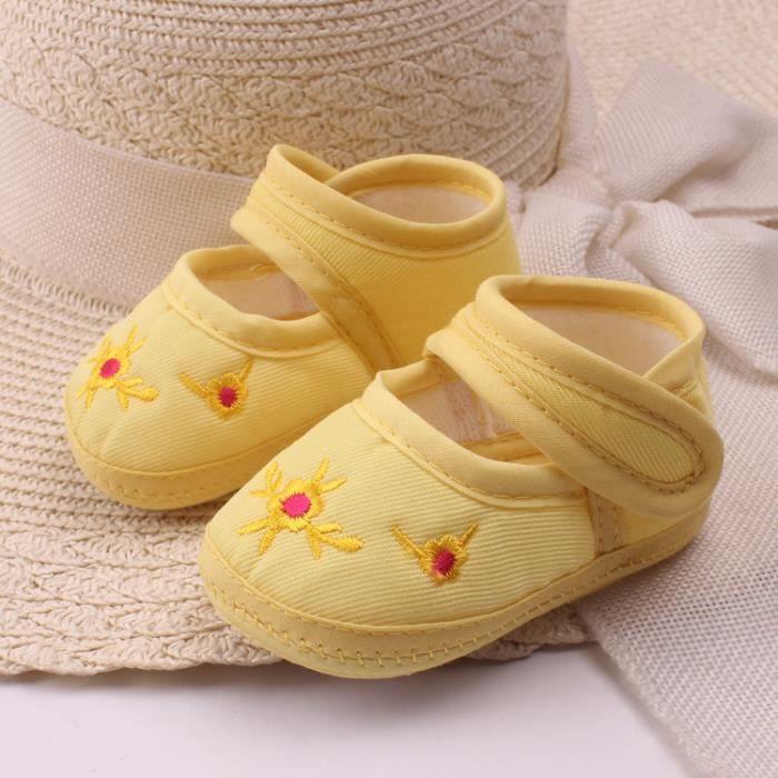 Mignon bébé filles premier marcheurs coton Cartoon Soft unique bébé nouveau-né pré-marcheurs chaussure 3 taille PRBptYuo