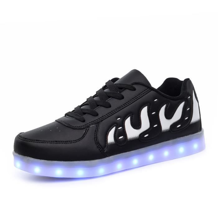 Baskets led Lumineuses Chaussures de Sport Clignotantes changement avez 7 Couleurs LED Homme Femme Chaussures