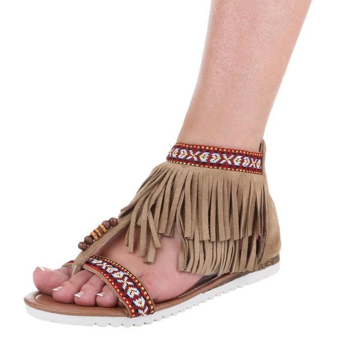 Femme sandale chaussure de Dianette effilé Femme chaussure toe trenner