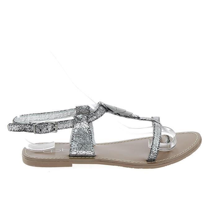 1b86499df950 Nu pieds et sandales LPB Lucinda Argent Argent - Achat   Vente ...