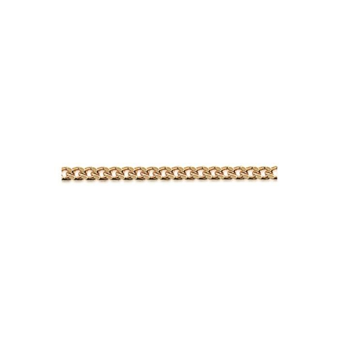 Chaine Plaque Or maille gourmette 1.4mm