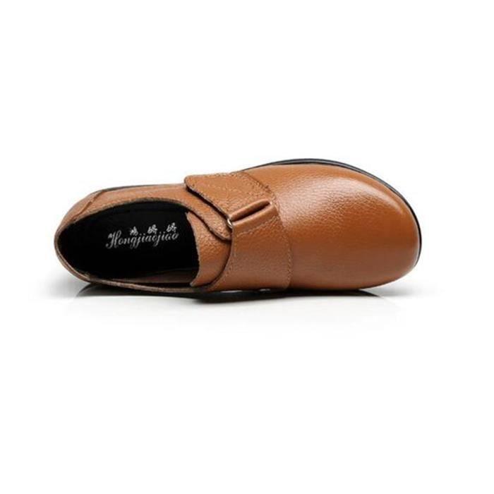 Chaussures BBZH Chaussure Cuir Femme Été XZ063Jaune37 Printemps Comfortable Femme Printemps Chaussures zzdwq4T