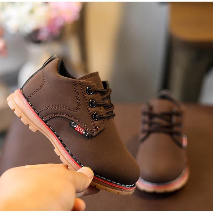 BOTTE Enfants Mode Garçons Filles Martin Sneaker Bottes Lace Up Kids Bébé Casual Chaussures@BrownHM