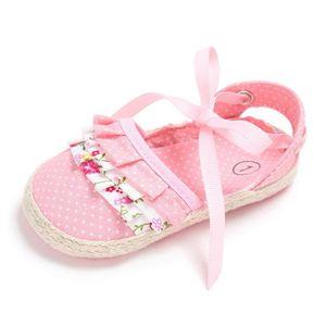 Frankmall®Filles berceau chaussures Noeud papillon princesse fleur Soft prémarcheur semelle douce chaussures ROSE#WQQ0926264 J6iNKxF