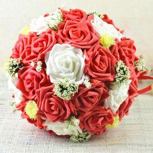 Bouquet de fleur artificielle mariage rouge et blanc for Bouquet de fleurs pas cher livraison gratuite