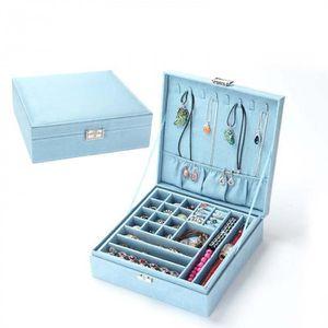 BOITE DE RANGEMENT Version Bleu -  Filles Boucle D'Oreille Bracelet C