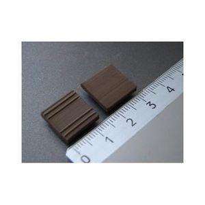 GARAGE - BATIMENT Carrelages noirs, 150 pièces 15x15x3mm