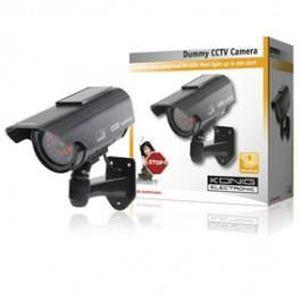 CAMÉRA FACTICE camera cctv factice avec panneau solaire et 30 …