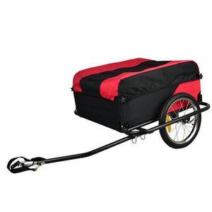 REMORQUE Remorque vélo Pliable en alu 40kg avec housse amov