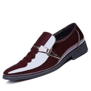 38355c0e0d89d DERBY Derby Homme Chaussures de Ville Sans Lacets Vernie
