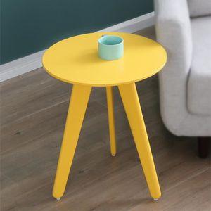 pas Table Vente ronde jaune basse cher Achat shQtdr