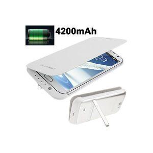 Batterie téléphone Batterie coque Samsung Galaxy Note 2 chargeur 4…