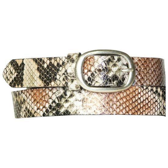 Ceinture en cuir effet peau de serpent de 3 cm, ceinture effet snake en  cuir de vachette véritable, ceinture à imprimé Multicolore - Achat   Vente  ceinture ... 23cdd2d6861