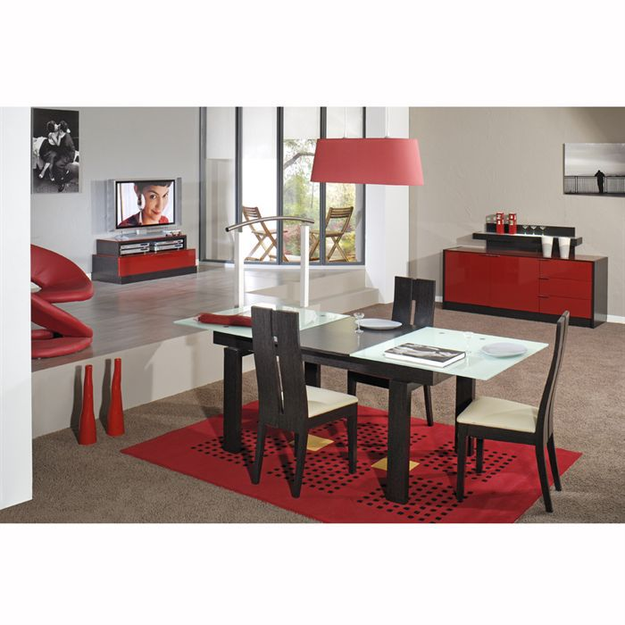 Nuty Table Rectangulaire Et  Chaises RougeWeng  Achat  Vente