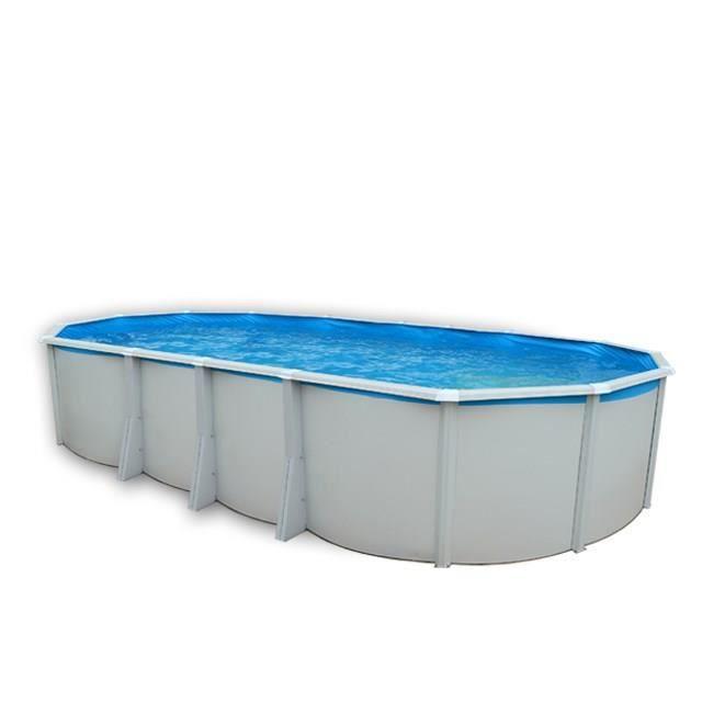 TOI Piscine ovale Ibiza en acier - 31500 L - 730 x 366 x 132 cm - Avec système de filtration