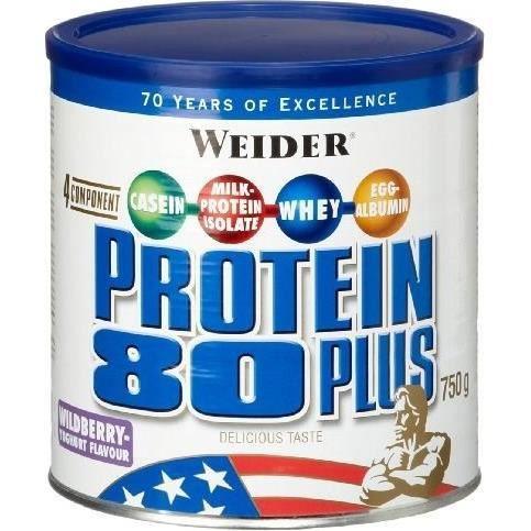 WEIDER Boîte de Protein 80+ Fruits Rouges 750g