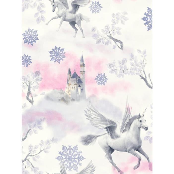 Conte de f e licorne papier peint lilas arthouse - Achat papier peint ...