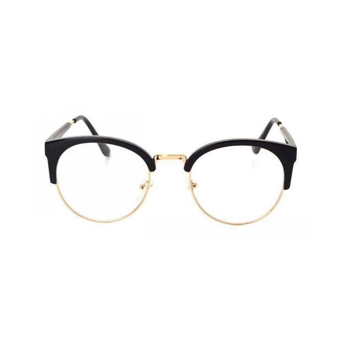 7a8ac043de55f6 Lunettes sans correction demi cerclée Noire - Achat   Vente lunettes .