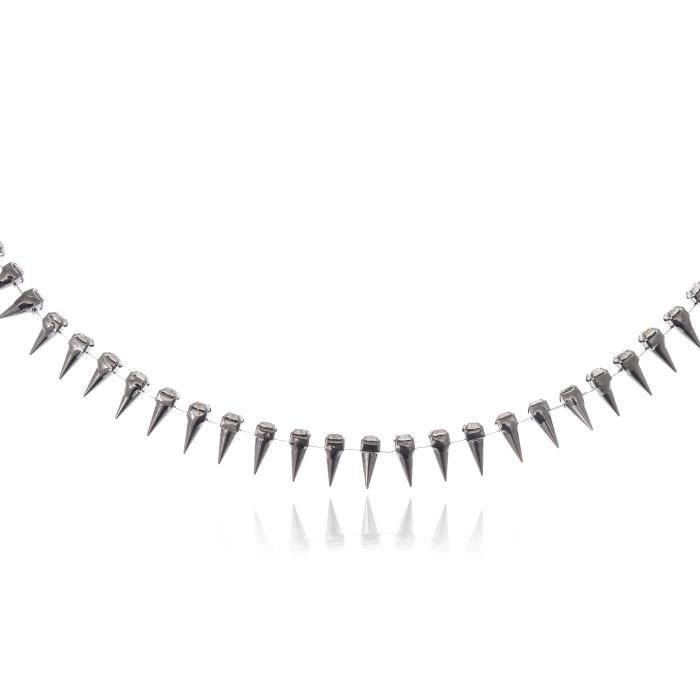 Ton argent à bascule Spike collier pour chien en cristal transparent avec strass Fashion Collier