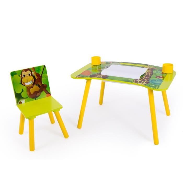 Table Bureau Motif À Avec Papier Pour ChaiseRouleaux Ape06027 Dessin Enfant Jungle j4R5AL