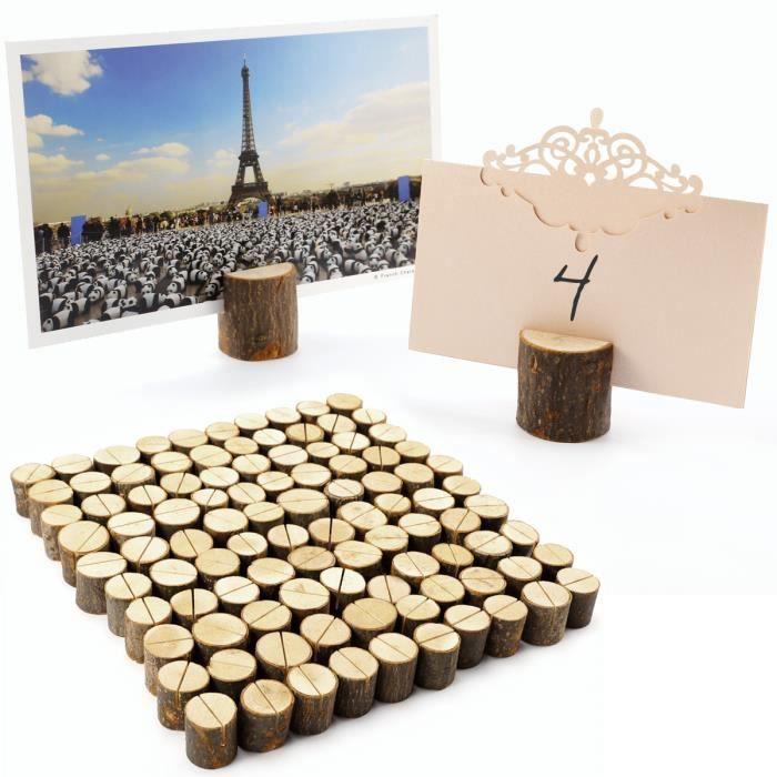 MARQUE-PLACE  100x stand en bois Support Photo Carte Nom Marque