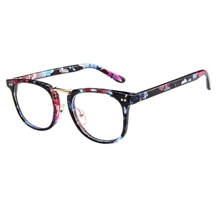 Monture de lunettes rétro Ronde Monture verre clair Pour Hommes Femmes 1950d29ce603