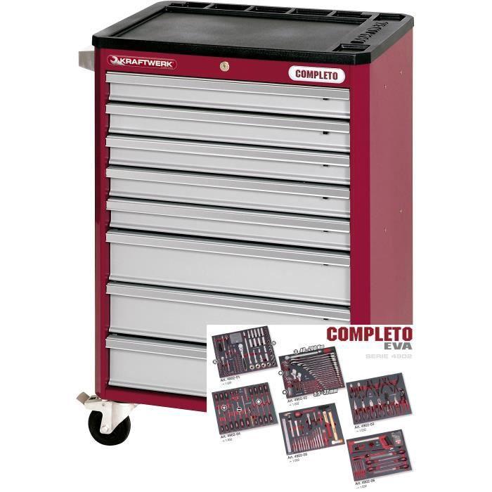 servante d atelier 8 tiroirs avec 308 outils co achat. Black Bedroom Furniture Sets. Home Design Ideas
