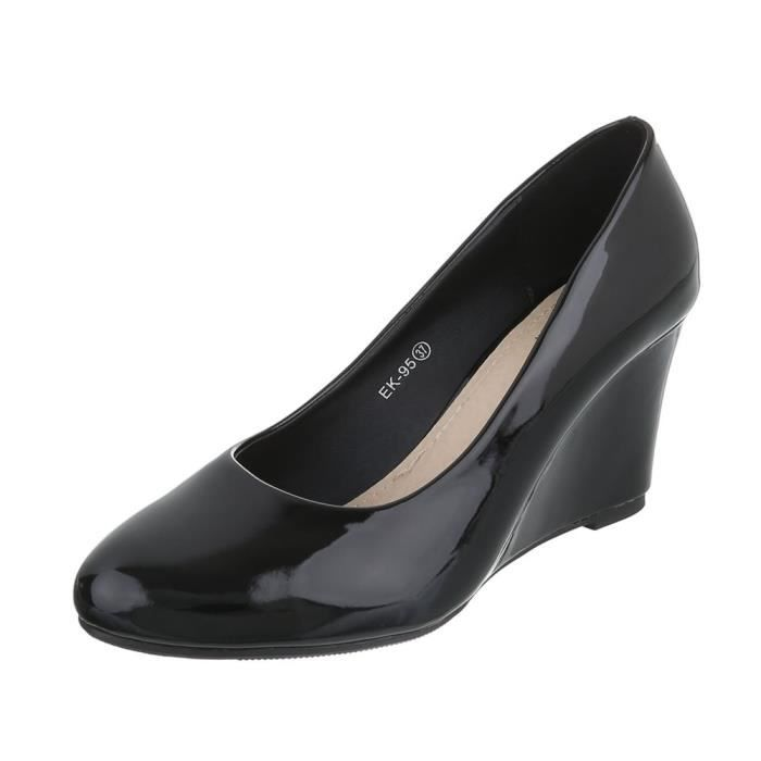beige 41 Escarpin Bleu Compense rouge Semelle noir Femme Noir Foncé Chaussures zxqUgXz