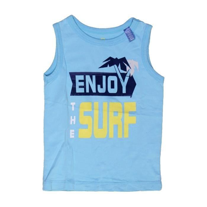 c62372f145c72 T-shirt sans manches enfant fille OKAIDI 3 ans bleu été  965879 ...