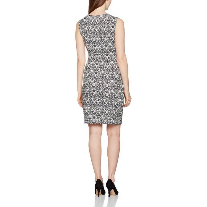 Mode féminine: Noir et crème Robe 2EVFDF Taille-38