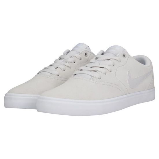 eb5b9325331 Nike SB Check Solar Homme Baskets Gris clair Blanc Gris Gris clair blanc -  Achat   Vente basket - French Days dès le 26 avril ! Cdiscount