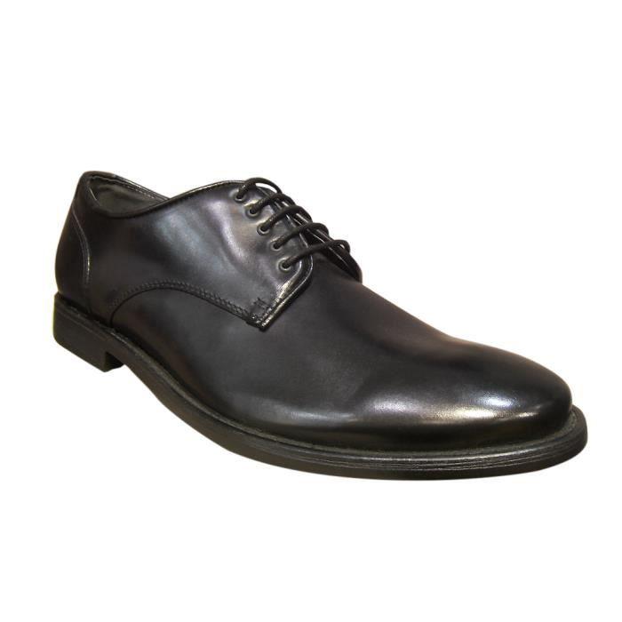 Chaussures homme ville cuir noir PELLET