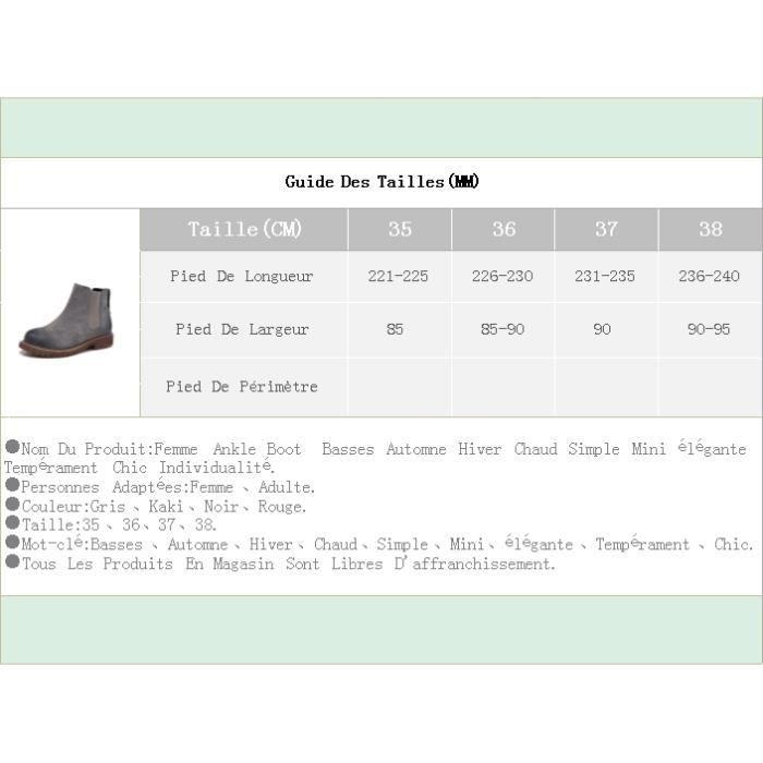 Femme Ankle Boot Basses Automne Hiver Chaud Simple Mini élégante Tempérament Chic Individualité