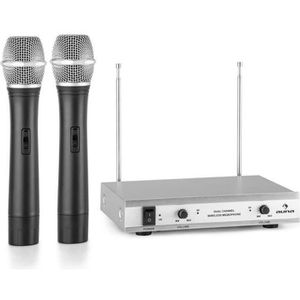 MICROPHONE - ACCESSOIRE auna VHF-2-H Set 2x micro à main sans fil -  systè