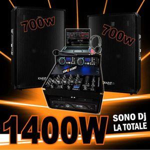 PACK SONO SONO COMPLÈTE avec 2 ENCEINTES 700W + AMPLI 1000W