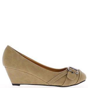 ESCARPIN Chaussures femme compensées taup...